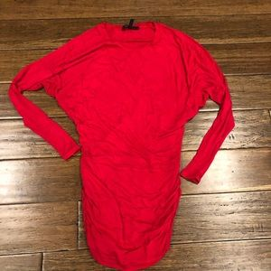 BCBG red tunic size XS
